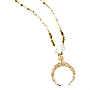 Park Lane Lunar Necklace FreshwaterPearlSwarovski